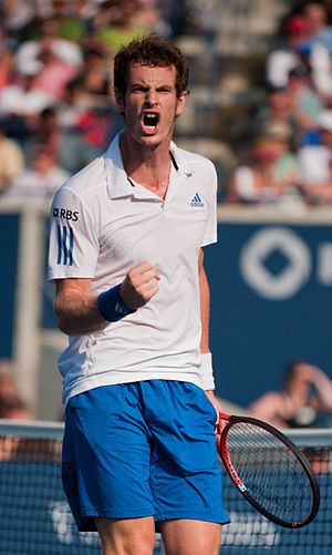 Fist pump - Andy Murray pumps his fist after beating Roger Federer.