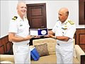 Commander Jeff Hutchinson, Commanding Officer HMCS Winnipeg, calling on Rear Admiral S Mahindru, Flag Officer Maharashtra Naval Area.jpg