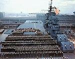 Commissioning of USS Yorktown (CV-10) on 15 April 1943.jpg