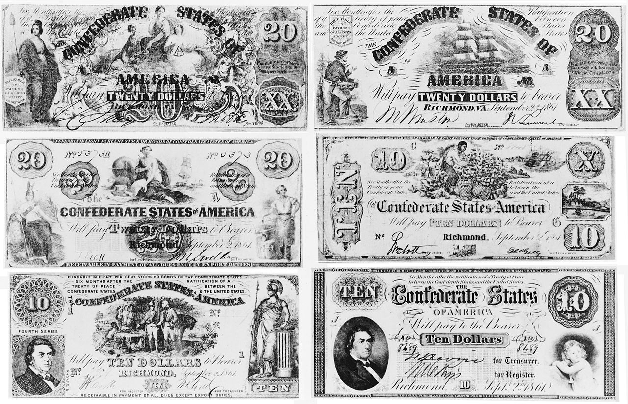 file confederate currency notes 6 jpg wikimedia commons