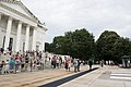 Congresswoman Janice Hahn lays a wreath at the Tomb of the Unknown Soldier in Arlington National Cemetery (18838739565).jpg