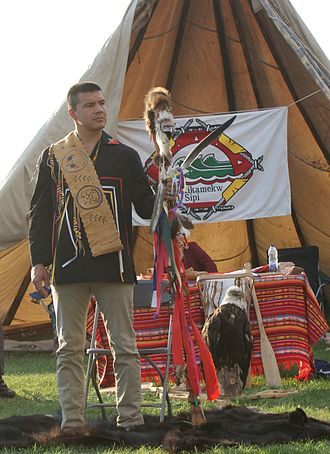 Constant Awashish - Constant Awashish during his swearing as Grand Chief of the Conseil de la Nation Atikamekw on 28 September 2014