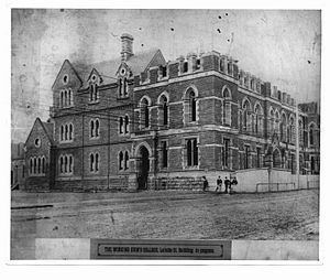 RMIT University - Construction of the Working Men's College (1880s)
