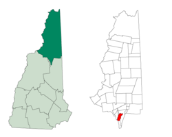 Location in Coös County, New Hampshire