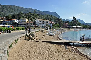 Palaiokastritsa - Image: Corfu Paleokastritsa Beach R01