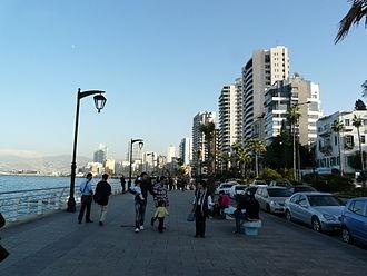 Avenue de Paris - Promenading on Avenue de Paris section of the Corniche Beirut