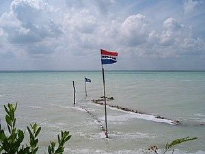 United Democratic Party (Belize) - United Democratic Party flag in Corozal.
