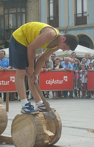 Woodchopping - Woodchopping competition at Avilés, Spain