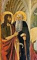 Cosimo rosselli, annunciazione tra i ss. giovanni battista, antonio, caterina e pietro, 1473, 02.jpg