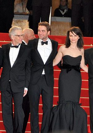 Cosmopolis (film) - David Cronenberg, Robert Pattinson and Juliette Binoche promoting the film at the 2012 Cannes Film Festival