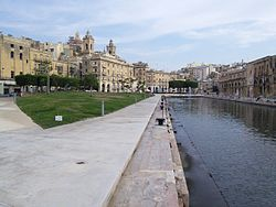 Cospicua as seen from Dock No. 1