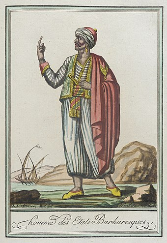 A man from the Barbary states Costumes de Differents Pays, 'Homme des Etats Barbaresques' LACMA M.83.190.274.jpg