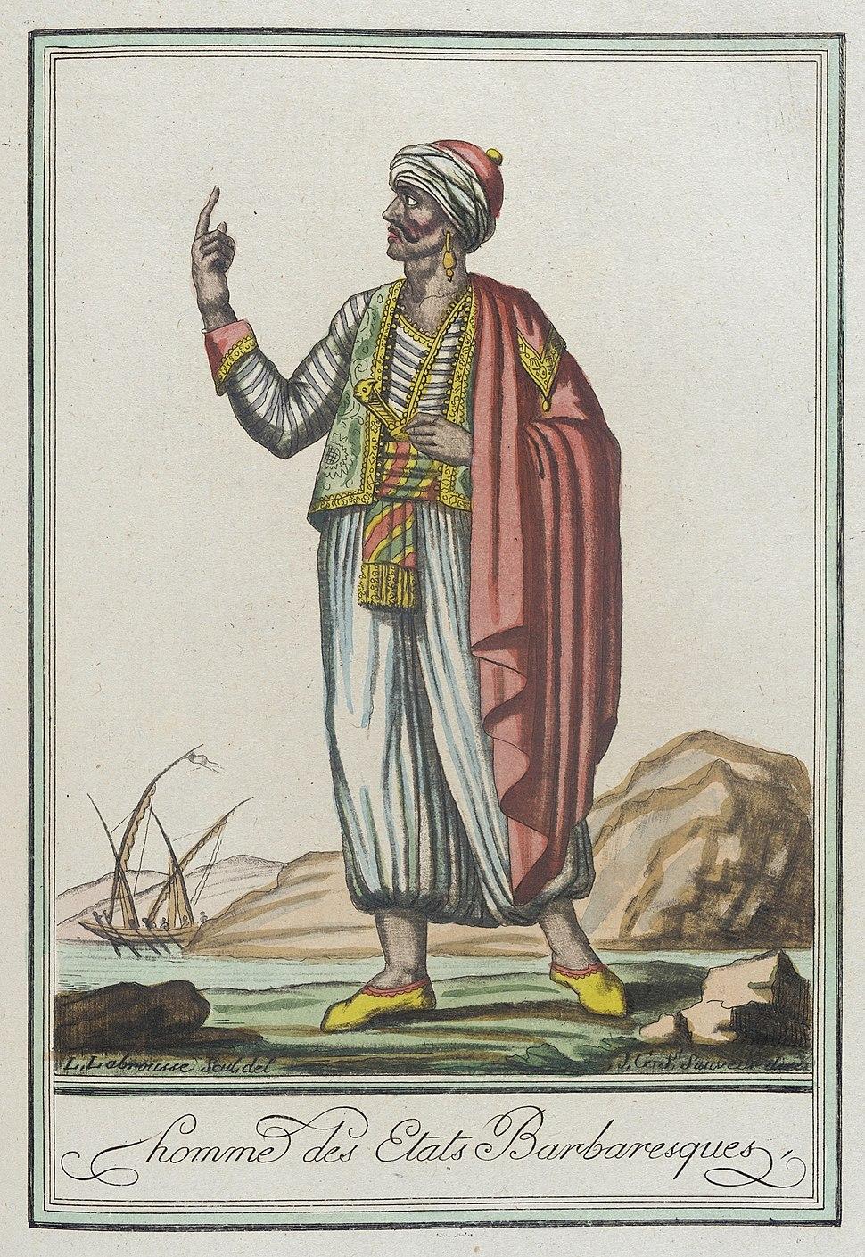 Costumes de Differents Pays, 'Homme des Etats Barbaresques' LACMA M.83.190.274