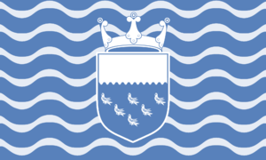 Flag of Sussex - Flag promoted by West Sussex County Council showing the County Council coat of arms