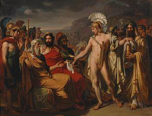 Achille présenté à Nestor