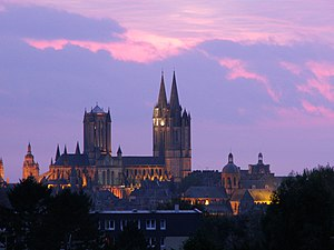 North side of Coutances and its cathedral