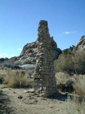 Cow Camp - Chimney from a ruined building at Cow Camp, Joshua Tree National Park, California