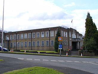 Cradley Heath - Former Rowley Regis Municipal Building, demolished in 2012.