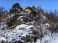 Craggy outcrop, Strathfarrar - geograph.org.uk - 1160491.jpg