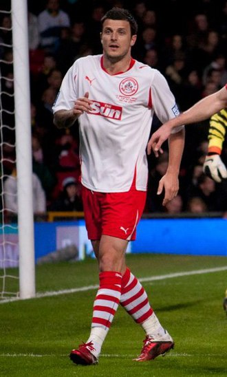 Craig McAllister - McAllister playing for Crawley Town in 2011