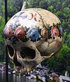 Crani pintat, ossari de Hallstatt, segle XIX.JPG