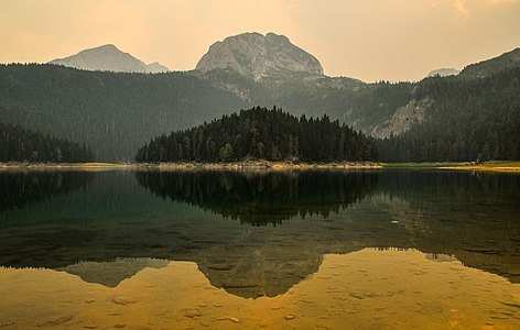 a photograph of Crno jezero (Black lake) in Montenegro
