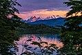 Cuernos del Paine reflecting on Lake Toro - panoramio.jpg