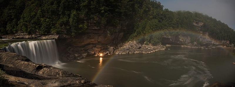 File:Cumberland Falls Moonbow panarama.jpg