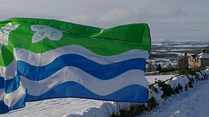 Flag of Cumberland - The Cumberland flag at Beacon Edge, Penrith