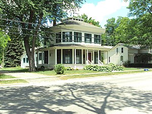 National Register of Historic Places listings in Lapeer County, Michigan - Image: Currier House Almont MI