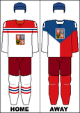 Czech Republic national hockey team jerseys - 2014 Winter Olympics.png