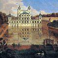 Düsseldorf, Altes Schloss Benrath (1660-1669, Johannes Lollio; genannt Sadeler), Abbildungen im Gemälde von Jan van Nikkelen in der Galerie zu Schleissheim aus dem Jahre 1715.jpg
