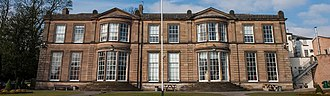 Derby Grammar School - The front facade of the Main Building