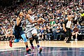 Danielle Robinson drives to the basket for a layup in the Minnesota Lynx vs Atlanta Dream game.jpg