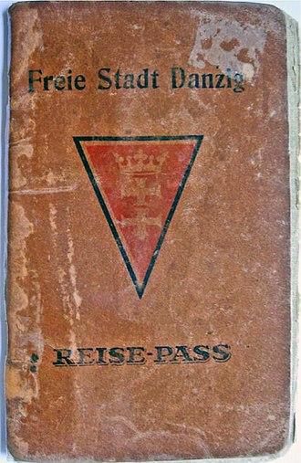 Free City of Danzig - Passport of the Free City of Danzig
