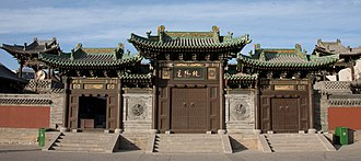 Taoism - Gates of the Temple of the Pure Sun (纯阳宫 Chúnyánggōng), dedicated to Lü Dongbin, in Datong, Shanxi.