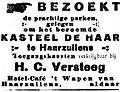 De Gooi- en Eemlander vol 044 no 049 advertisement BEZOEKT de prachtige parken gelegen om het beroemde KASTEEL DE HAAR te Haarzuilens.jpg
