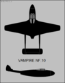 De Havilland Vampire NF.10 two-view silhouette.png