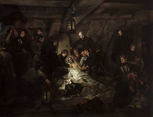 The Death of Nelson, 21 October 1805 - Image: Deathof Nelson Devis