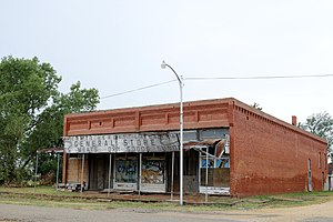 National Register of Historic Places listings in Grant County, Oklahoma - Image: Deer Creek General Merchandise Store