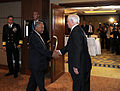 Defense.gov News Photo 100604-F-6655M-001 - Secretary of Defense Robert M. Gates welcomes Indonesian Minister of Defense Purnomo Yusgiantoro prior to a bi-lateral meeting at the 9th.jpg
