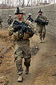 Defense.gov News Photo 120201-A-BF670-008 - U.S. Army soldiers patrol a village during a joint clearance operation with Afghan police in western Kandahar Afghanistan on Feb. 1 2012. The.jpg