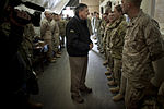 Defense.gov News Photo 120314-D-TT977-023 - Secretary of Defense Leon E. Panetta greets service members transiting into or out of Afghanistan at the Manas Air Base Transit Center Kyrgyzstan.jpg