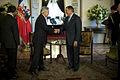 Defense.gov News Photo 120426-D-TT977-209 - Secretary of Defense Leon E. Panetta greets Chilean President Sebastian Pinera at the Presidential Palace Santiago Chile April 26 2012. Panetta.jpg