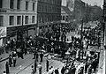 Den store barrikade på Nørrebrogade i København under folkestrejken i 1944 (7183254209).jpg