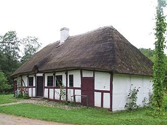 The Funen Village - A traditional Danish timber framed house.