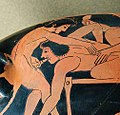 Depiction of fellatio on Attic red-figure kylix, c. 510 BC.jpg