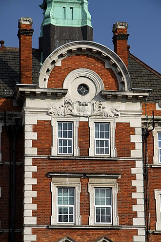 Hammersmith Hospital - Details of the hospital's architecture.