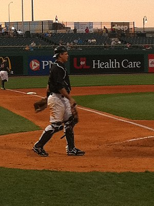 Devin Mesoraco - Mesoraco playing for the Louisville Bats