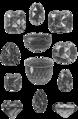 Diamanter, Några stora och ryktbara diamanter, Nordisk familjebok.png